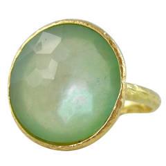 Jona Chrysoprase Quartz Gold Ring
