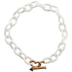 Jona High-Tech White Ceramic Gold Chain Bracelet