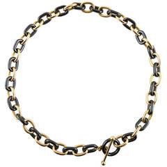 Jona High-Tech Black Ceramic Gold Chain Necklace