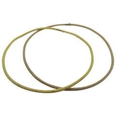 Jona Gold Twisted Wire Choker Necklace