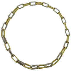 Jona Two Tone Gold Chain Necklace