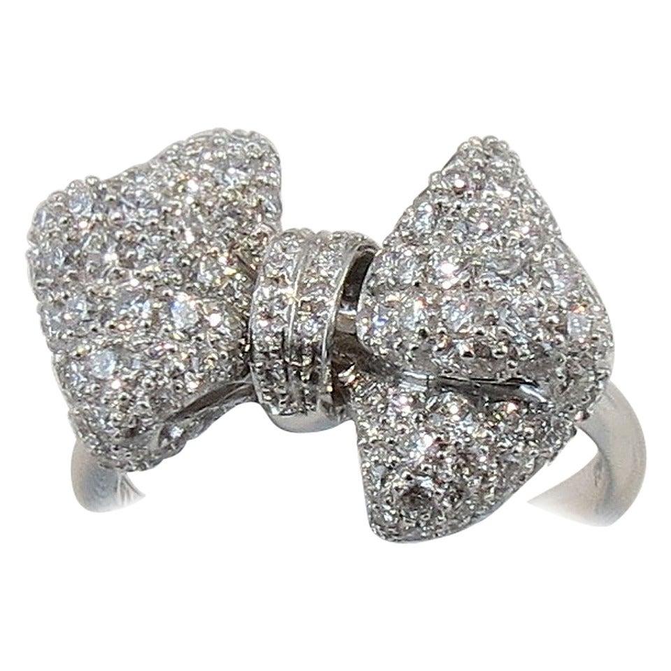 jona pave gold ribbon bow ring at 1stdibs