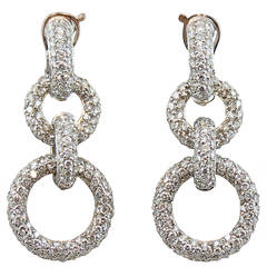 Jona White Diamond 18k White Gold Ear Pendants