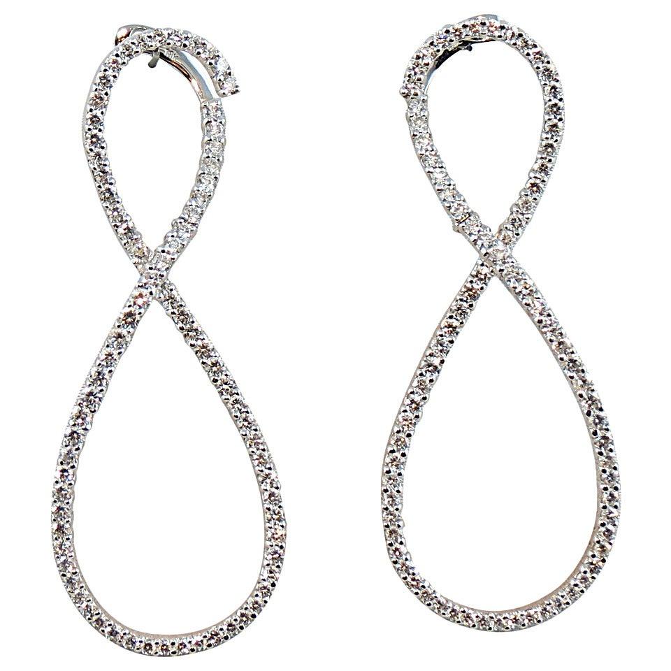 jona gold infinity earrings at 1stdibs