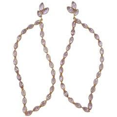 Jona Pink Amethyst 18 Karat Rose Gold Dangle Earrings