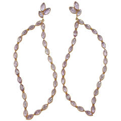 Jona Pink Amethyst 18 Karat Rose Gold Dangle Earrings