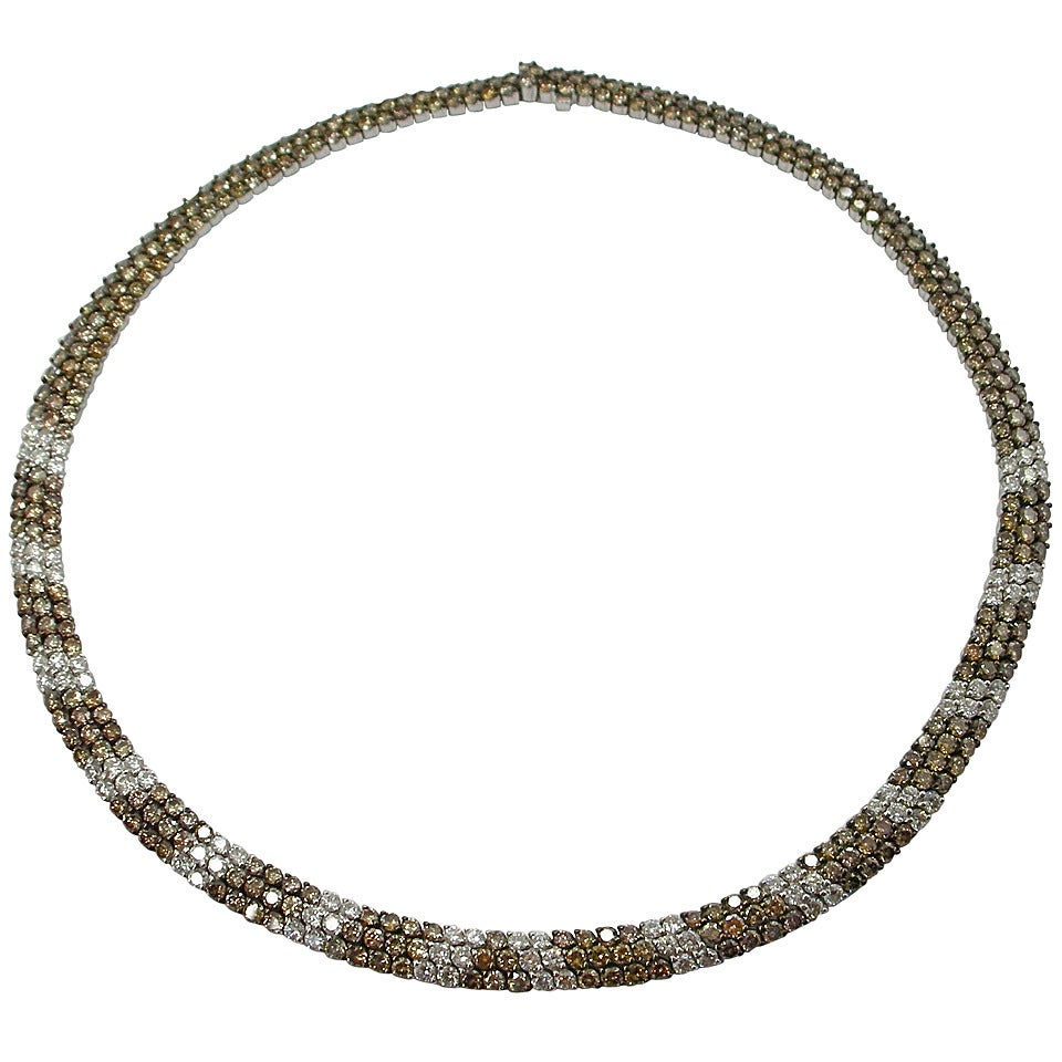 Jona Diamond Gold Collar Necklace