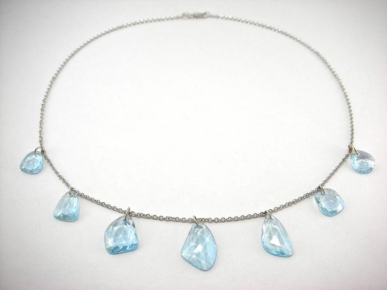Jona Aquamarine Gold Necklace 2