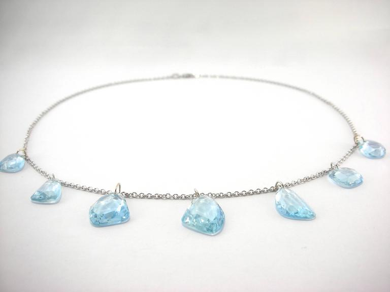 Jona Aquamarine Gold Necklace 3