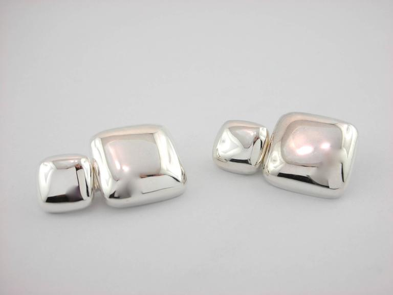 Jona Sterling Silver Cufflinks In As new Condition For Sale In Torino, IT