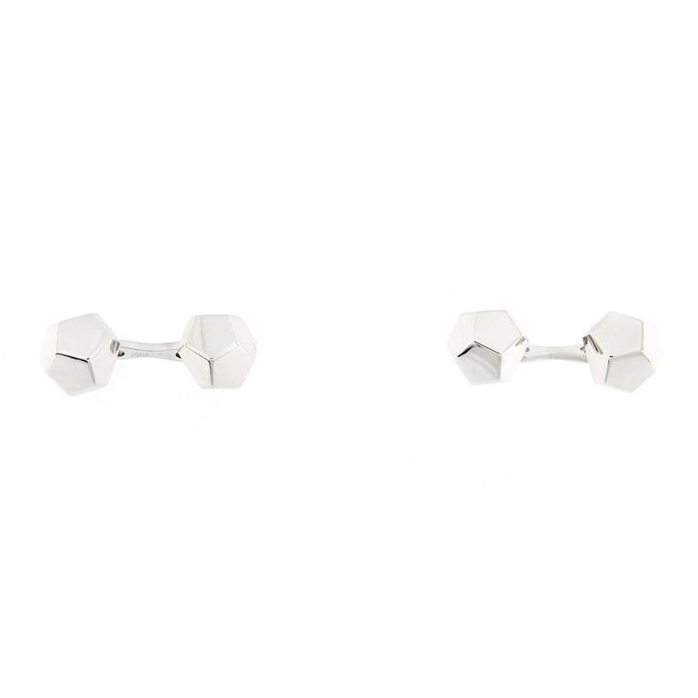 Jona Geometric Sterling Silver Cufflinks In New Condition For Sale In Torino, IT