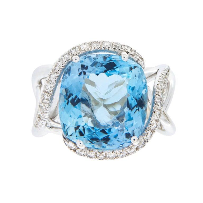 Jona Aquamarine Diamond Gold Ring