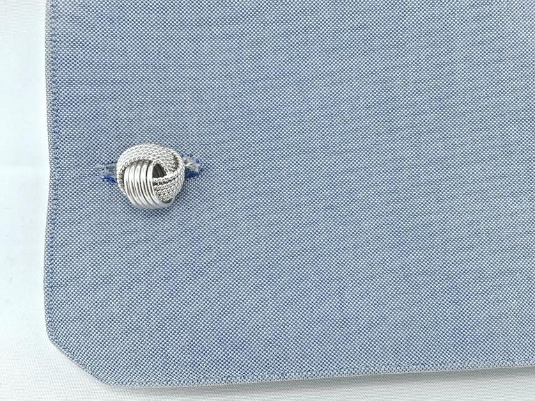 Jona design collection, hand crafted in Italy, Sterling silver knot cufflinks. Marked JONA 925.     All Jona jewelry is new and has never been previously owned or worn. Each item will arrive at your door beautifully gift wrapped in Jona boxes, put