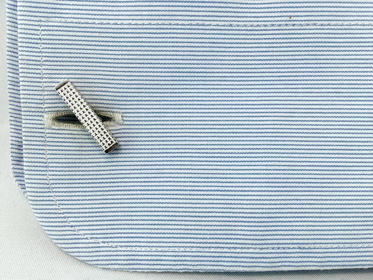 Jona design collection, hand crafted in Italy, sterling silver guilloché bar cufflinks. Marked