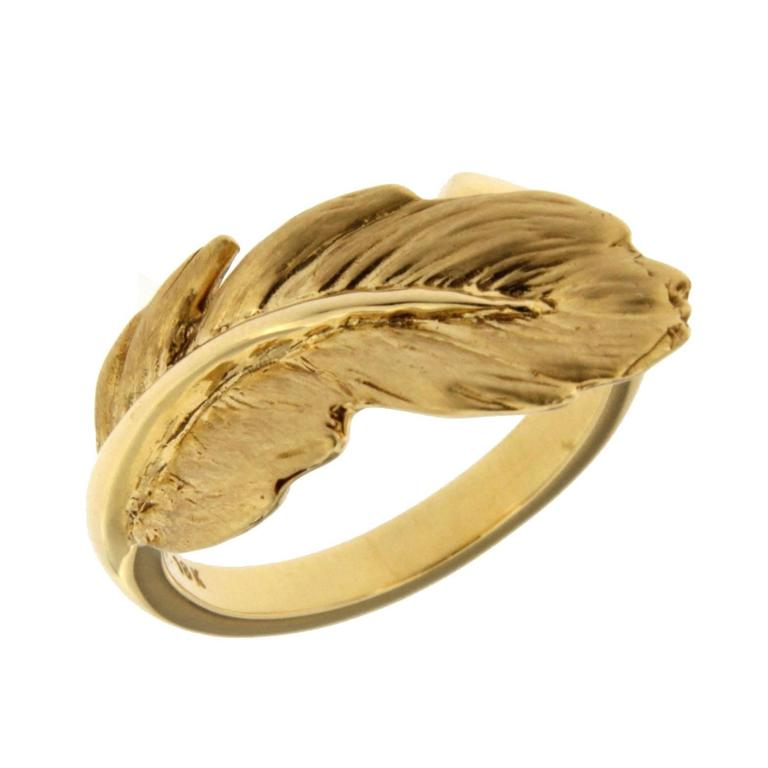 jona feather gold ring for sale at 1stdibs