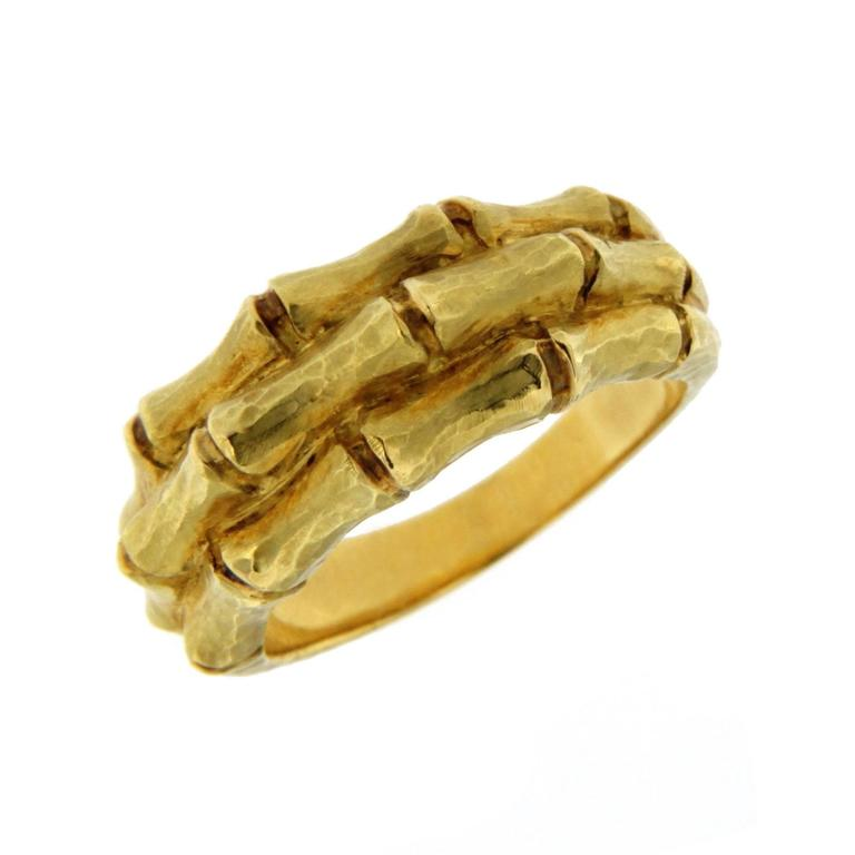 Jona Bamboo 18 Karat Yellow Gold Band Ring In New Condition For Sale In Torino, IT