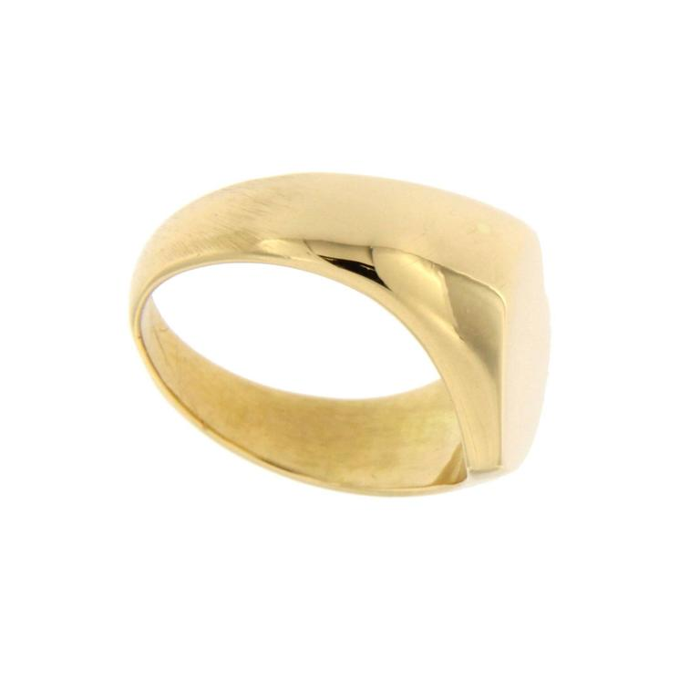 Jona Gold Heart Signet Ring In As New Condition For Sale In Torino, IT