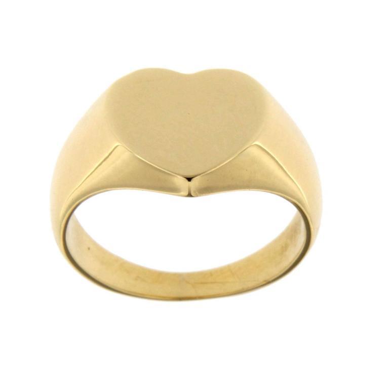 Women's Jona Gold Heart Signet Ring For Sale