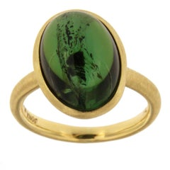 Jona Green Tourmaline 18 Karat Yellow Gold Ring