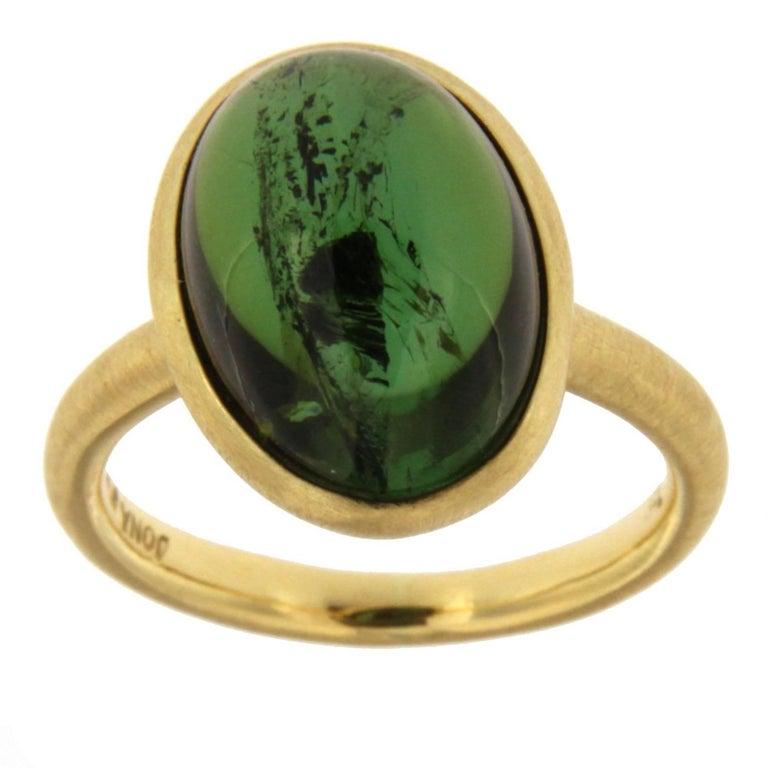 Jona Green Tourmaline Gold Ring