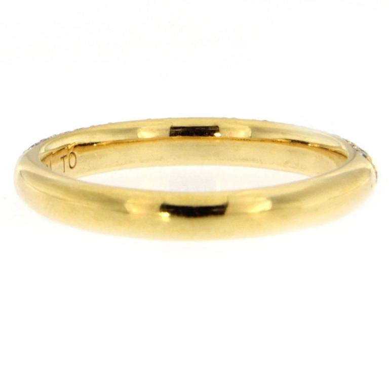 Women's Jona White Diamond 18 Katat Yellow Gold Band Ring For Sale