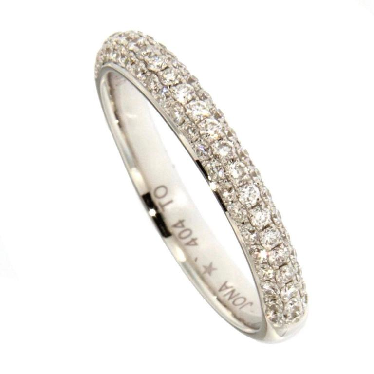 Jona White Diamond 18 Karat White Gold Band Ring In New Condition For Sale In Torino, IT
