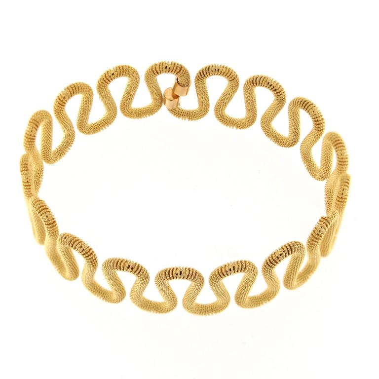 Jona 18 Karat Yellow Gold Twisted Wire Bangle Bracelet For Sale at ...