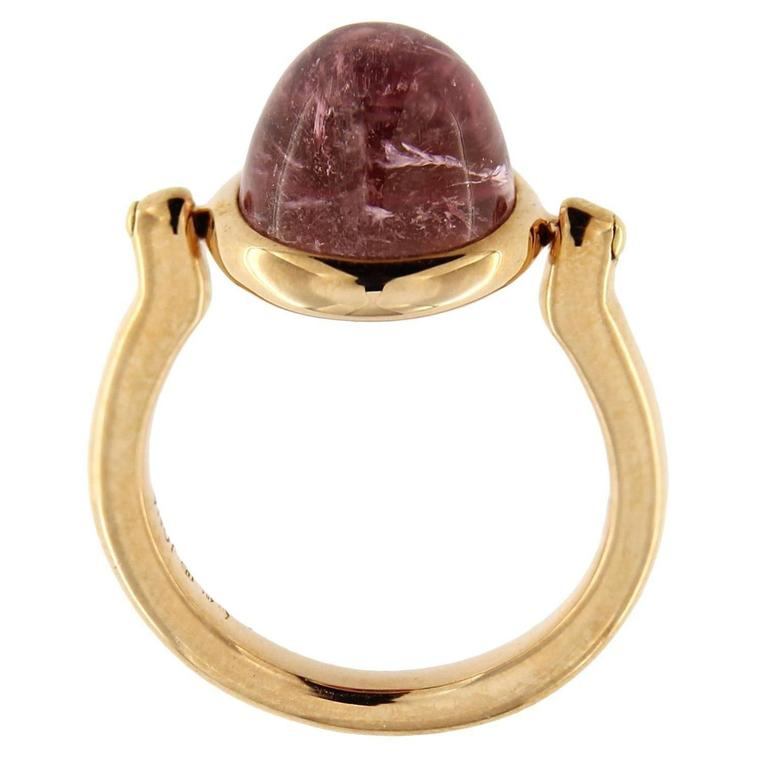Jona Pink Tourmaline Rose Gold Ring