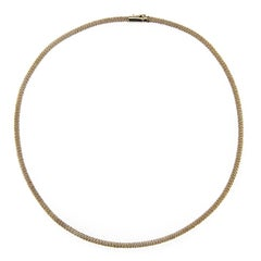 Jona White Gold Twisted Wire Choker Necklace