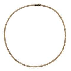 Jona White Gold Twisted Wire Choker Necklace