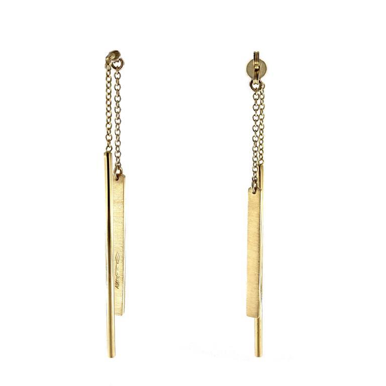Jona Gold Bar Ear Pendant Earrings 3