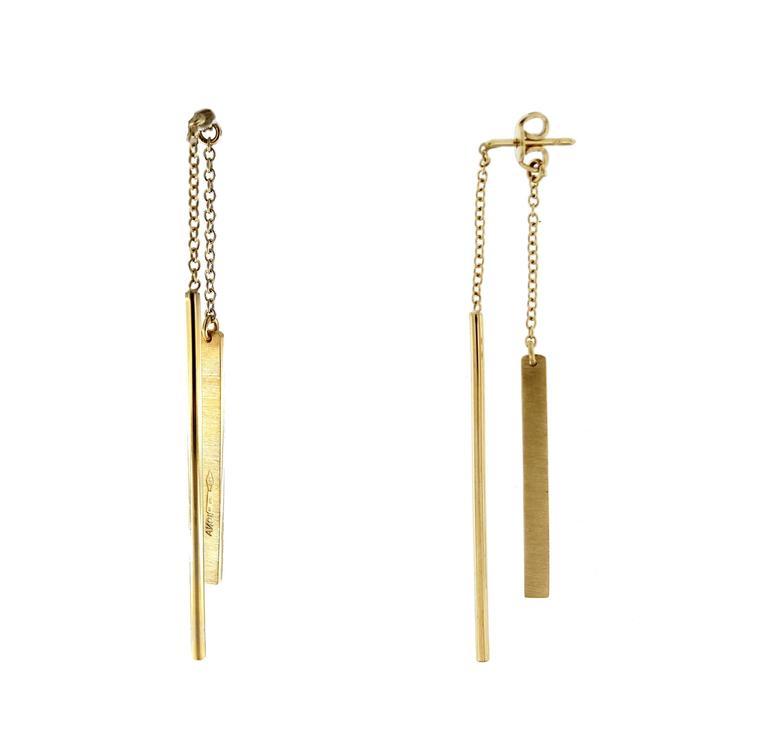 Jona Gold Bar Ear Pendant Earrings 4