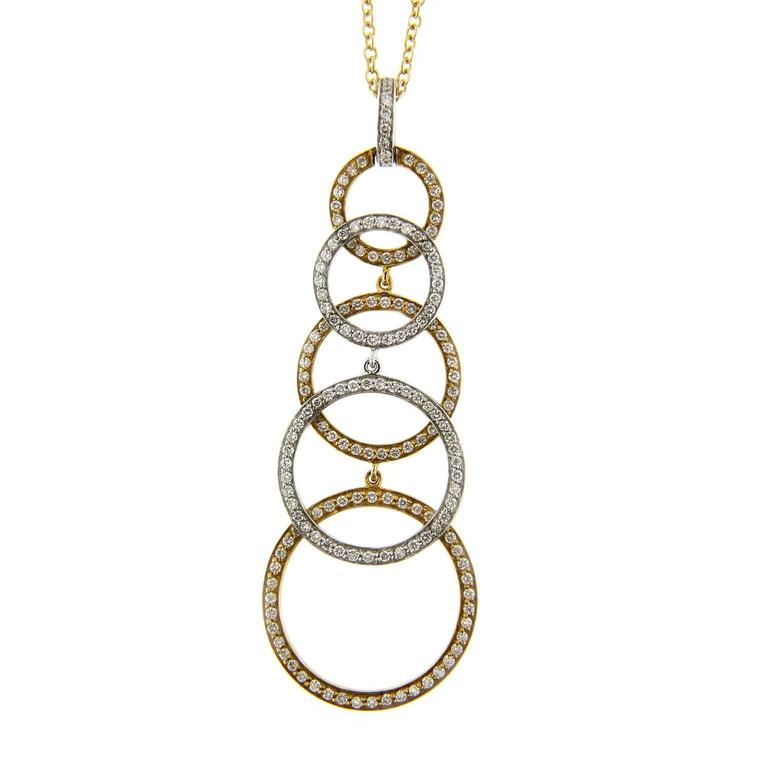 Jona Diamond Yellow and White Gold Pendant Necklace
