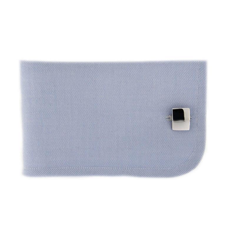 Jona Convex Silver Cufflinks In New Condition For Sale In Torino, IT