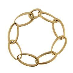 Jona Satin Rose Gold Link Chain Bracelet