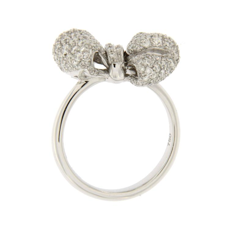 jona pave gold ribbon bow ring for sale at 1stdibs