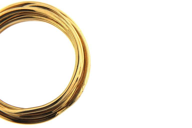 Jona 18 Karat Yellow Gold Spaghetti Ring Band For Sale 1
