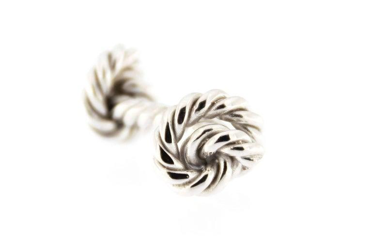 Jona Rope Sterling Silver Cufflinks 3