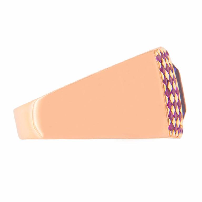 Jona Amethyst Pink Sapphire 18 karat Rose Gold Ring Band For Sale 1