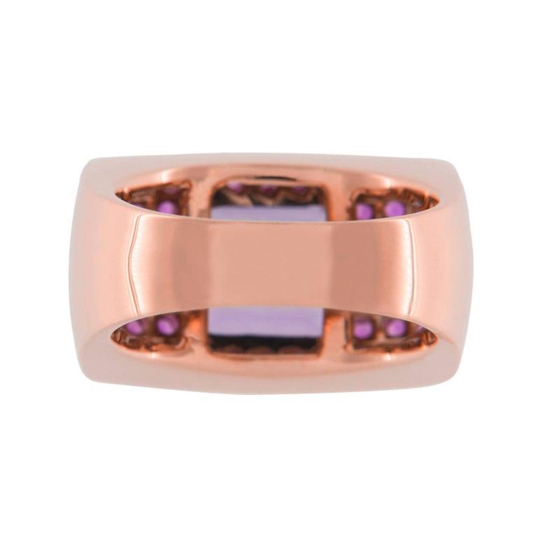 Jona Amethyst Pink Sapphire 18 karat Rose Gold Ring Band For Sale 4