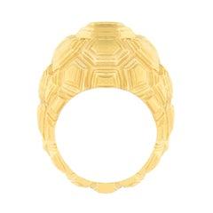 Jona Testudo 18 Karat Yellow Gold Dome Ring