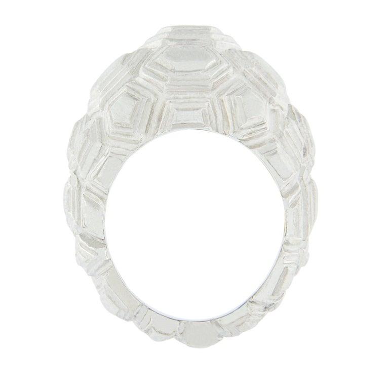 Jona Testudo Sterling Silver Dome Ring