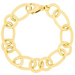 Jona 18 Karat Yellow Gold Link Chain Bracelet