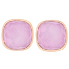 Jona Amethyst Mother of Pearl 18 Karat Rose Gold Stud Earrings