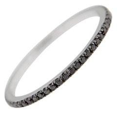 Jona Black Diamond 18 Karat White Gold Eternity Band Ring