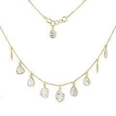Jona Diamond Slice 18 Karat Yellow Gold Necklace