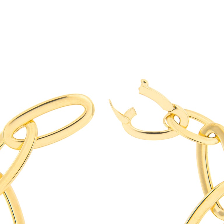 Jona 18 Karat Yellow Gold Link Chain Bracelet For Sale 3