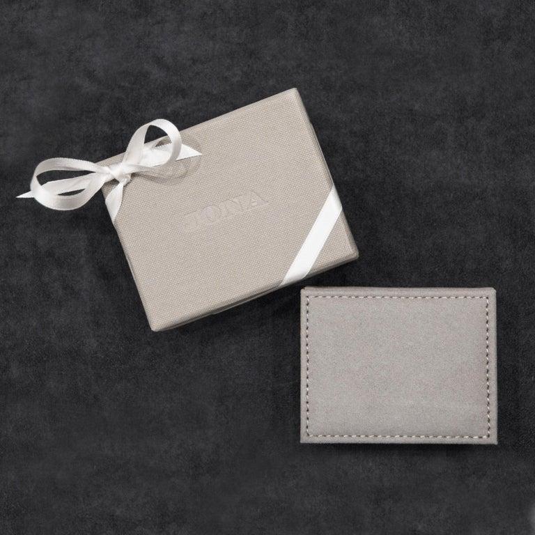 Jona Octagonal Enamel White Diamond 18 Karat White Gold Cufflinks For Sale 1