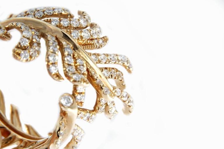 Jona Diamond Gold Wrap Around Feather Band Ring 6