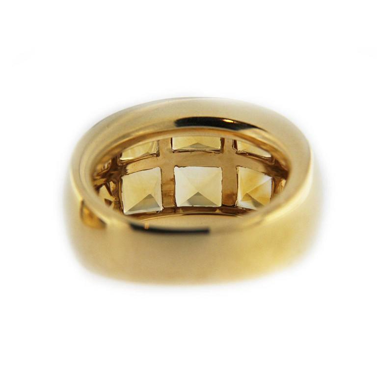 Jona Citrine 18 Karat Yellow Gold Band Ring For Sale 1